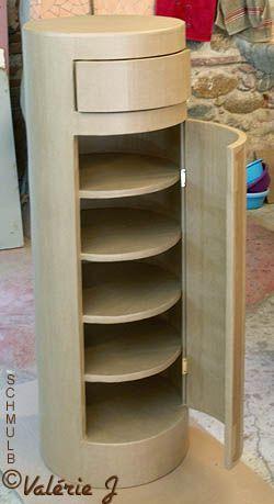 Buffet cylindre en carton