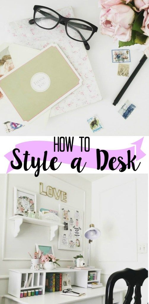How to Style a Desk with Examples At Home with Ashley blog