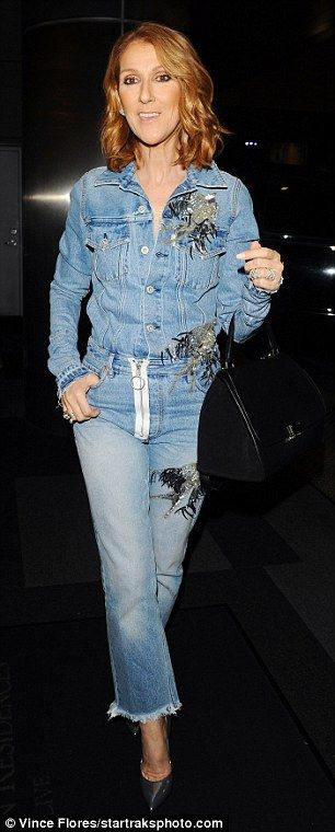Add some sparkle in embellished jeans like Celine's   Click 'visit' to buy it now  #DailyMail