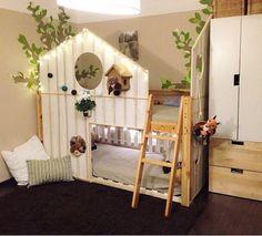 Der Traum vom eigenen Haus kann schon in jungen Jahren wahr werden >> mommo design: IKEA BEDS HACKS