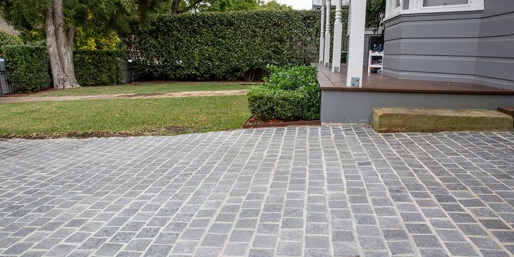 Our Ash Bluestone Cobblestone is cut from the densest blocks to ensure strength and durability enough to use on high traffic areas or on driveways. With its slight olive colour, these cobbles have an earthy colour tone. #cobblestones #drivwaystone #cooldriveways