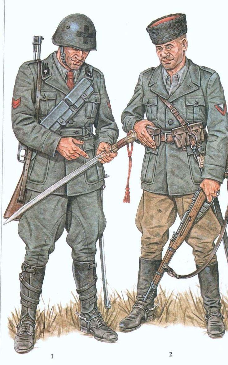 """Regio Esercito, Fronte Russo, 1941-43 - 1 Soldato del Reggimento Dragoni """"Savoia"""" - Volontario Cosacco, Gruppo Autonomo Cosacchi Savoia, 1941"""