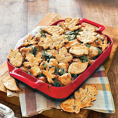 Turkey Pot Pie with Cranberry-Pecan Crusts