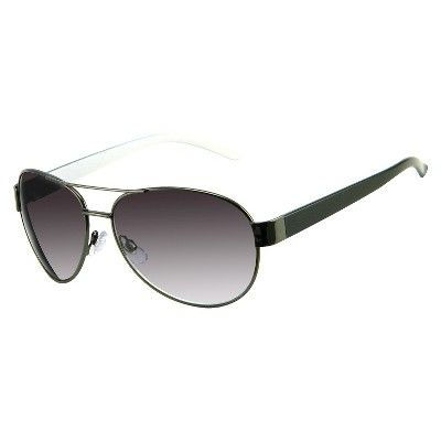 Women's Aviator Sunglasses - Gunmetal, Black