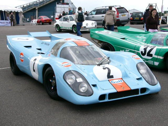 Gulf Porsche 917. Steve McQueens Lemans car. One lap, please..tha'ts all I want.