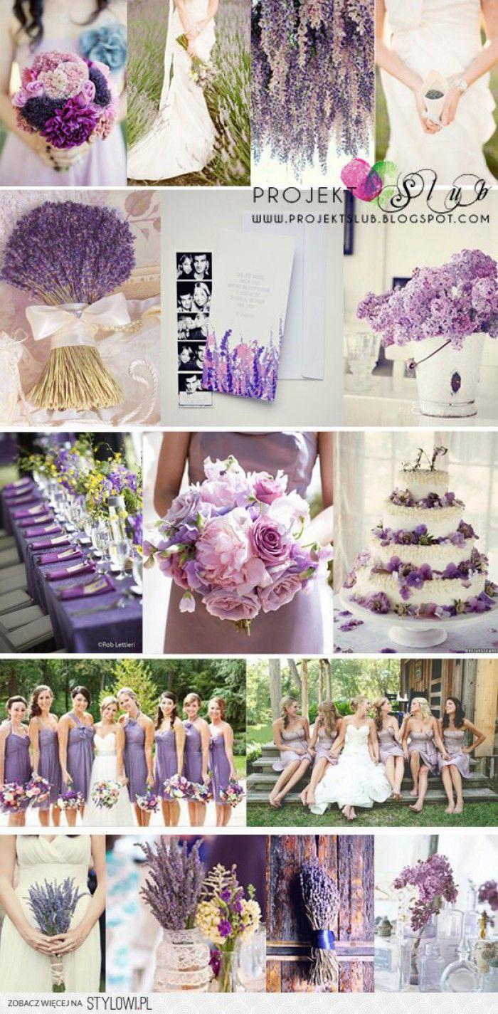 paars lavendel thema voor bijv. een buiten / tuin / bruiloft / trouwen / wedding