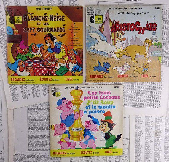 Vintage Story Books With Vinyl Story Vinyl Records Books Etsy Vintage Children Storybook Vintage Brass