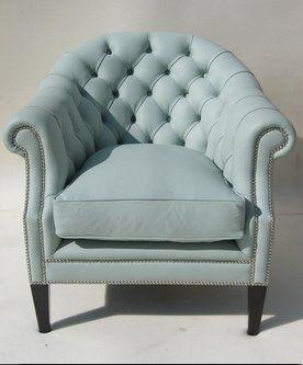 Duck egg blue chair - inspiration via blossomgraphicdesign.com #boutiquedesign