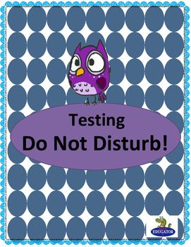 Testing - Do Not Disturb Sign and Doorhanger - FREE. Print out, laminate, hang on your door during testing as a reminder for everyone to be extra quiet! :) - HappyEdugatorYou may also like: TEST PREP Language Arts Standards Practice TestFollowing Directions PuzzlesTEST PREP Language Arts Standardized Test Practice PowerPointTEST PREP Get a High Score on the Test 7th Grade ELA PowerPoint Be the first to know about my new discounts, freebies and product launches:       Look for the green star…