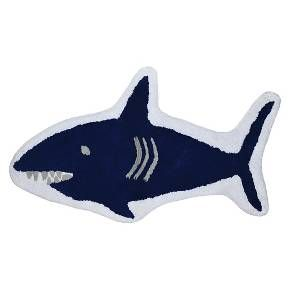 Shark Bath Rug Blue - Pillowfort™ : Target ----kids bathroom