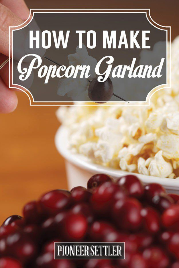 How to Make Popcorn Garland