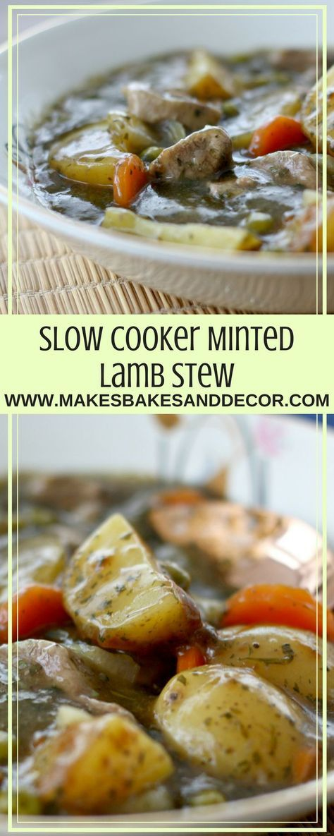 slow cooker minted lamb stew is so easy to make but a great mid week winter warming dish #slowcooker #crockpot #recipe #stew #lamb #mint