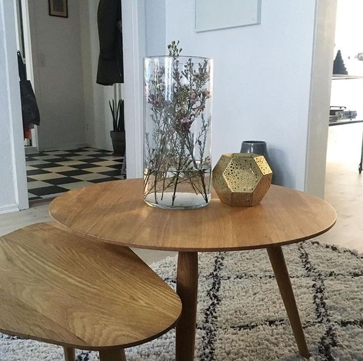 "@nybyggerne_christine has captured this beautiful picture of our PLAY sofa tables 😍 Christine and her boyfriend Mikkel are participating in a Danish TV-show called ""Nybyggerne"", where four couples competes against each other to furnish a new house right from the start 🏠We wish Christine and Mikkel good luck!   #bruunmunch #furniture #PLAYround #PLAYorganic #danishdesign #handmade #madeindenmark #interior #nybyggerne"