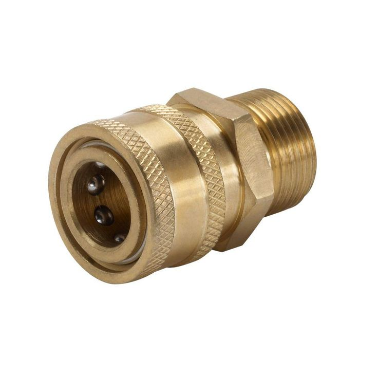 Power Care 3/8 in. Female Quick Connect x Male M22 Connector for Pressure Washer-AP31041B - The Home Depot