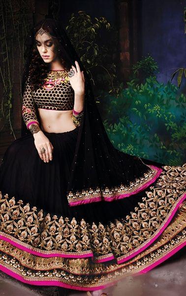 Picture of Beauteous Black Color Lehanga Choli