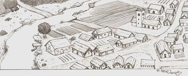medieval_village___sketch_by_betomelo.jpg (2110×859)