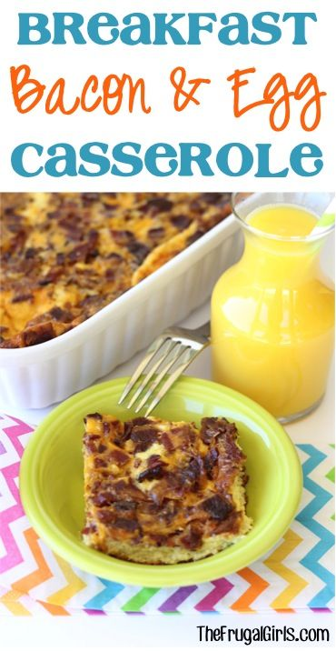 Overnight Breakfast Bacon and Egg Casserole Recipe! ~ from TheFrugalGirls.com ~ this easy, delicious breakfast casserole is perfect for a weekend Brunch, or Thanksgiving, Christmas, or Easter morning!! #casseroles #recipes #thefrugalgirls