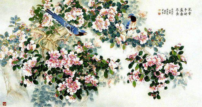 Китайская живопись: искренние, теплые, нежные и романтичные акварели Liang Yan Sheng