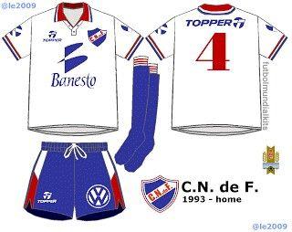 CD Nacional of Uruguay home kit for 1993.