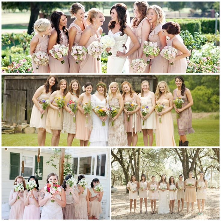 Lake Tahoe Wedding Inspiration | Nude + Beige Bridesmaids Dresses | Lake Tahoe Weddings with Tahoe Unveiled