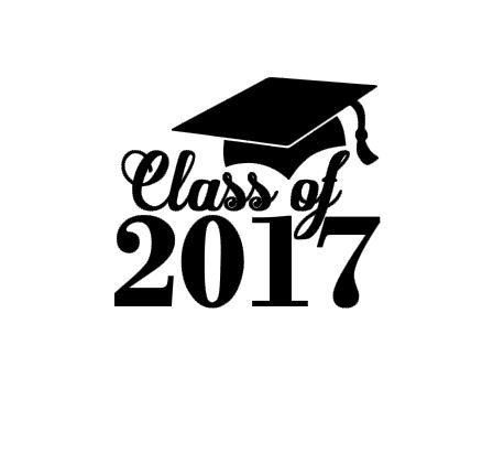 Class of 2017 Graduation instant download cut file by bibberberry