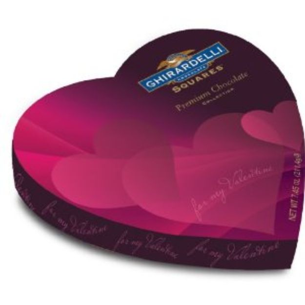 I'm learning all about Ghirardelli Valentine's Chocolate Squares Premium Chocolate Assortment Heart Box at @Influenster! @LoveGhirardelli