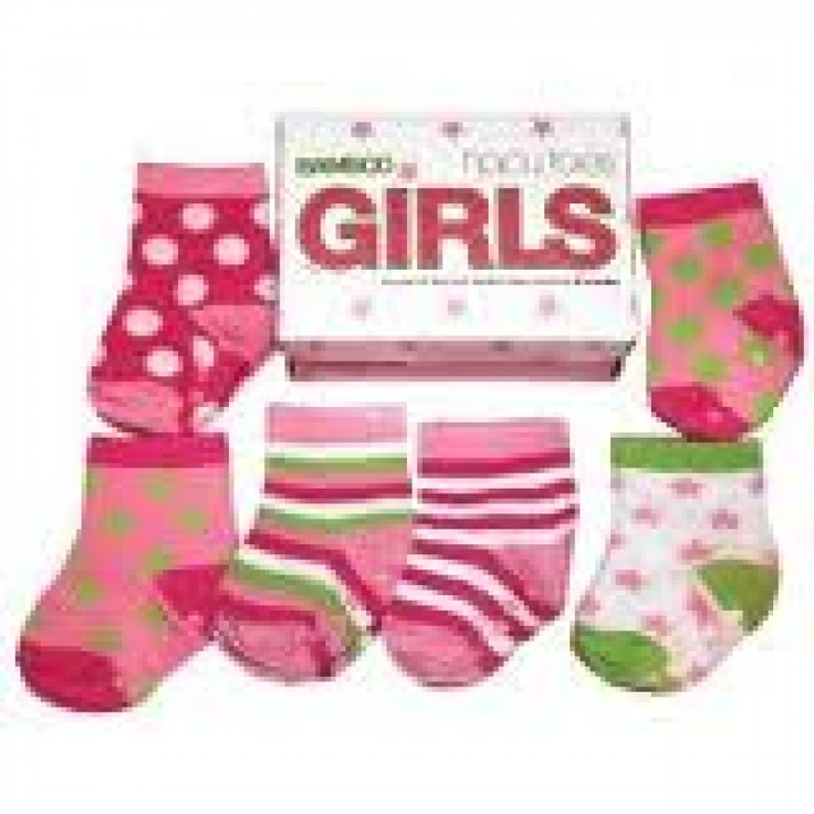 Annabel Trends Tippy Toes Socks Boxed Set of Six - For Girls The ideal gift for newborns.  Made from quality soft cotton and stretchy elastane for extra comfort, Tippy Toes feature a soft elastic cuff to stop socks from sliding off and special non-slip paw prints on the soles for the early walkers.  Suitable for bubs 0-12months they keep tootsies warm in winter and cool in summer.  Available in different designs, your baby's footsies will be spoilt for choice!    They're just too cute! $25AU