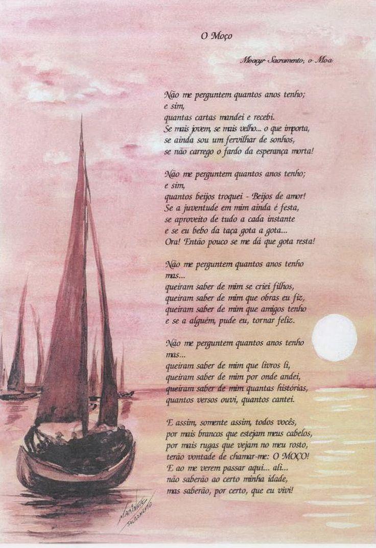 """Poesia """"O Moço"""" de Moacyr Sacramento"""