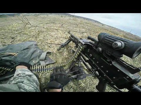 US Army Soldiers Helmet Cam of Simulated African Village Assault with Armed Forces of Senegal