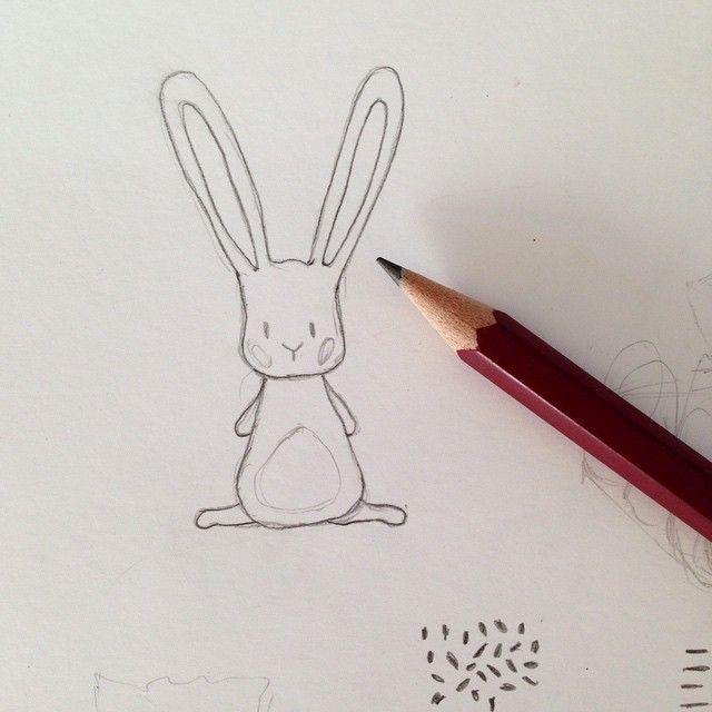Meet little rabbit! It's nearly Easter :) #illustration #easter #art #drawing