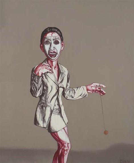 Chinese Artist Zeng Fanzhi, Unknown on ArtStack #zeng-fanzhi-ceng-fan-zhi #art #kunst