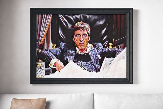 Scarface Movie Poster Art Canvas Print Wall Decor by Homeyville