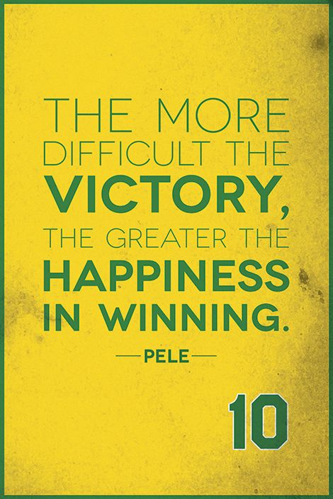 The more difficult the victory, the greater the happiness in winning. #sports #motivational #quotes