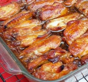 "Caramelized Baked Chicken: ""So easy to put together and very yummy. I wouldn't leave anything out! I have served these as an appetizer with both a sweet-and-sour dip and a spicy chili dip, and it was delicious."" -Logan's Mommy"