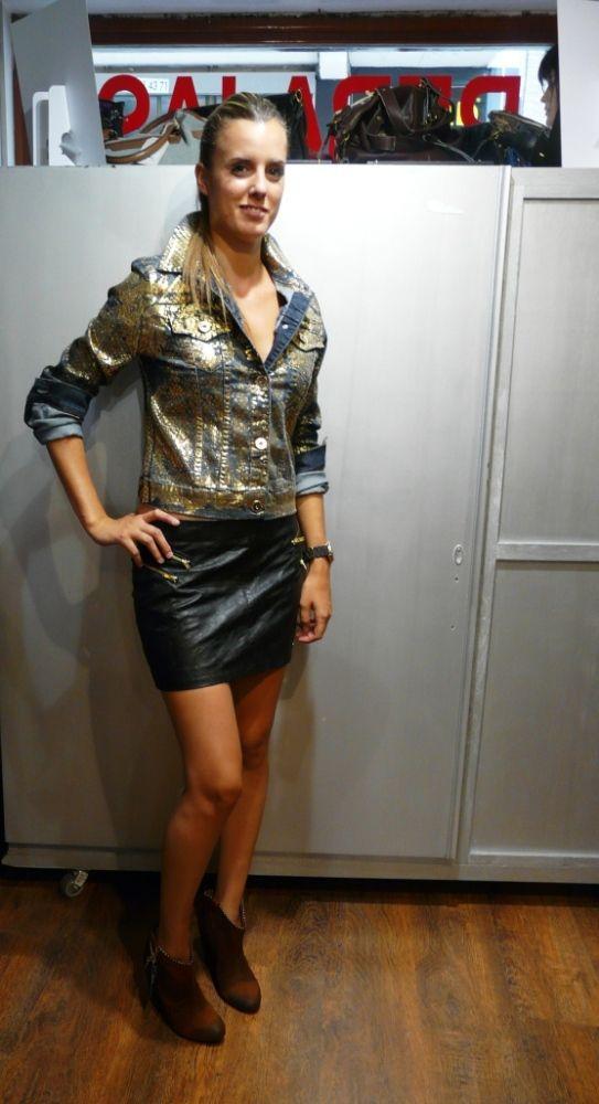 Invierno/otoño 2013 falda Pepe Jeans y cazadora Colci  @Colcci Oficial; @Pepe Jeans