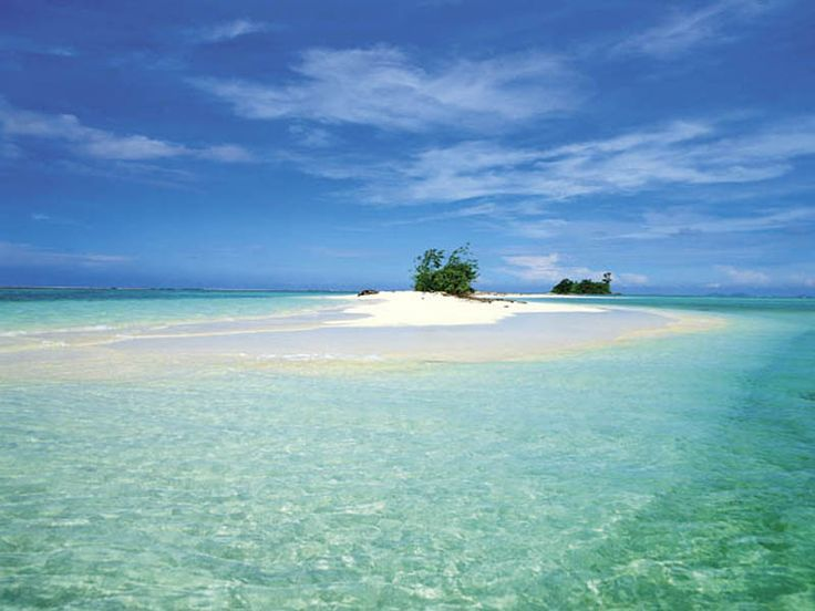 One of the many beautiful atolls that form part of the Solomon Islands