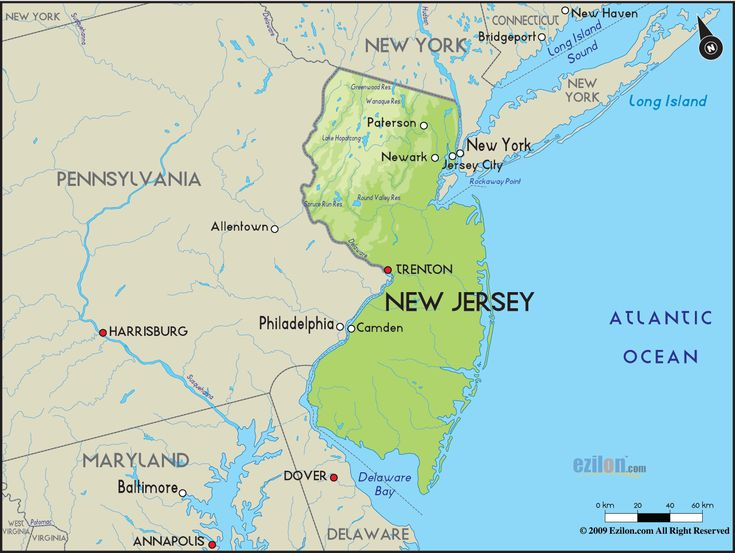 Best NJ Maps Images On Pinterest New Jersey Jersey Girl And - New jersey on the us map