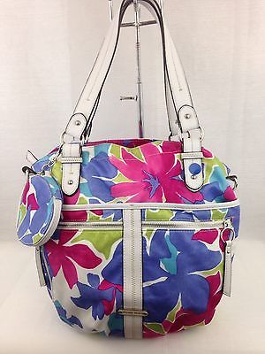 Franco Sarto Women's Big Top  Tote Shoulder Bag Floral