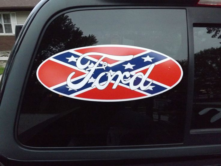 Ford Logo With Rebel Flag Vehicle Window DecalSticker X - Badass decals for trucks
