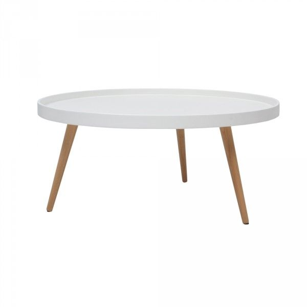 table basse ronde scandinave blanche grand modèle (GiFi-803575X)