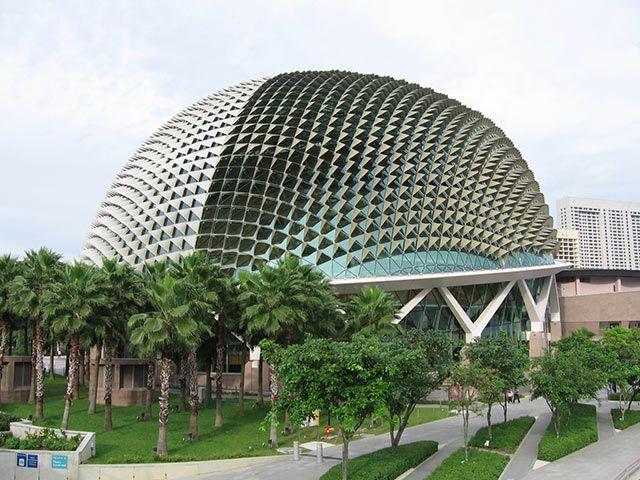 Esplanade Theatres, Singapore. Looks like a pointy helmet.