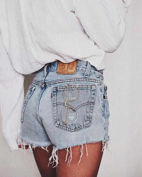 All Sizes Levi 501 Vintage Denim Shorts With High Waist In 2020 High Waisted Shorts Denim Denim Women Fashion