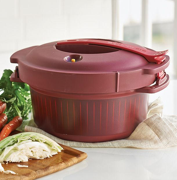 One of our latest tools to enter the microwave cooking game is the Microwave Pressure Cooker.