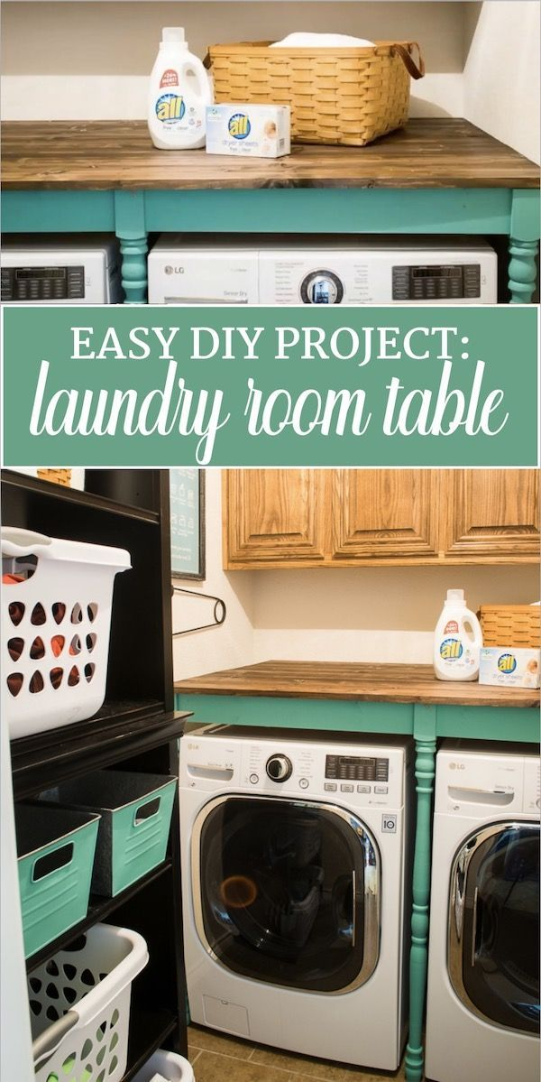 Diy An Oversized Table For The Laundry Room For Under 100 In 2020