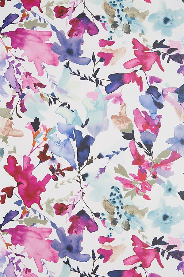 Anthropologie Wildflower Study Wallpaper By Jen Garrido In