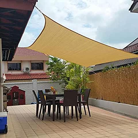 Amazon Com Sun Shades For Patios 10 X 20 In 2020 Sun Sail Shade Patio Shade Patio Sails
