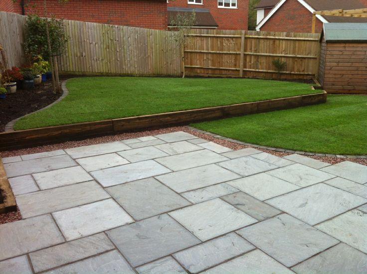 Gray Indian Sandstone. Garden IdeasPatio