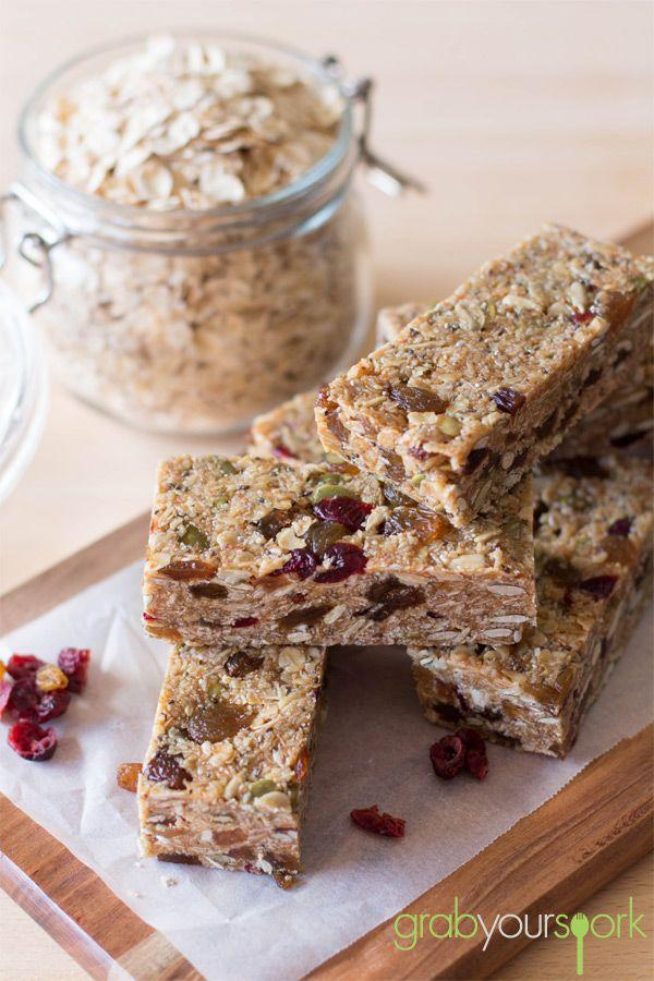 Homemade Muesli Bars | Snacks | Recipes | Grab Your Spork