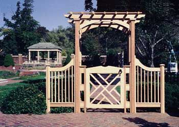 English Arbor With Extensions And Gate From Trellis Structures