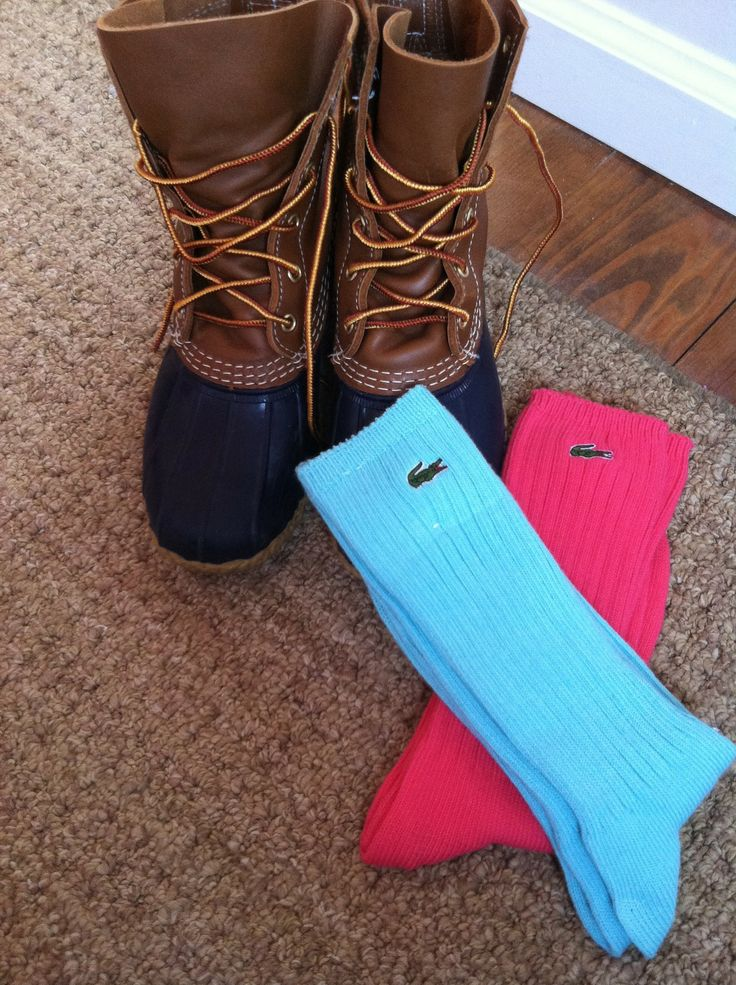 Bean boots. I need some lacoste socks. Love the alligator.